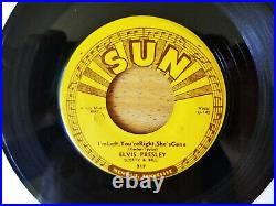 SUPER WOW! PUSH MARKS MINT LABELS Elvis Presley BABY, LET'S PLAY HOUSE SUN 217