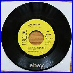 SUPER WOW! RARE MINT PROMO Elvis Presley HOW GREAT THOU ART With PS 74-0130