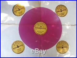 Set of (5) older Sun Elvis Presley records. 78 rpm on colored vinyl. Repro