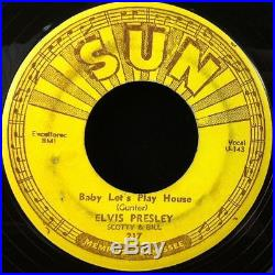 Set of all 5 ELVIS PRESLEY SUN 45 RECORDS Originals 1954/1955 Pushmarks