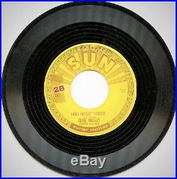 Sun 45 Elvis with Scotty & Bill, Good Rockin' Tonight / I Don't Care. # 210