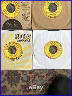 Sun Records 45 lot. Elvis Presley, Jerry Lee Lewis, Johnny Cash, Carl Perkins