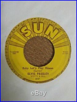 Sun label 1955 45 rpm records elvis presley Scotty and Bill rare