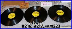 Sun record Elvis Presley 78 RPM original shellac #210, 217, 223 from the 1950s