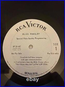 Super rare Elvis Presley Special Palm Sunday Programming OG stamped matrix