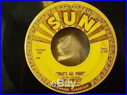 THATS ALL RIGHT SUN 209 ELVIS PRESLEY ORIGINAL USA 45 VERY RARE GENUINE