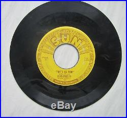 THE HOLY GRAIL OF ELVIS RECORDS-the ORIGINAL 5 SUN 45s