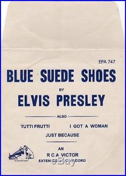 (Temp. Paper envelope) Elvis Presley RCA Victor EPA-747 Origianl 1956 Rockabilly