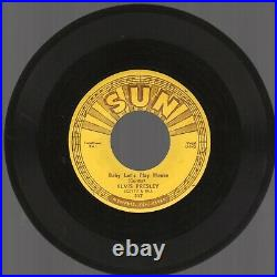 VG++ 1955 Sun 217 Elvis Presley Baby Let's Play House/I'm Left, You're Right