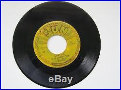 Vintage ELVIS PRESLEY 45 RPM Sun Record Good Rockin Tonight