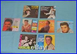 Vintage ELVIS PRESLEY CHU-BOPS bubble gum records with retail store display box