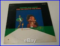 Vintage Townes Van Zandt For The Sake Of The Song LP Vinyl Record Poppy Records