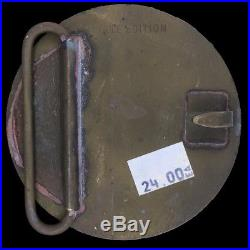 Vtg 70s Nos Rare Sun Record Company Elvis Presley 1935-1977 Brass Belt Buckle