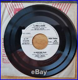 WHITE LABEL PROMO Elvis Presley/DINAH SHORE TOO MUCH/PLAYING FOR KEEPS DJ-56
