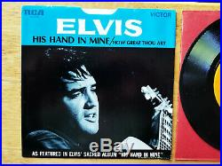 WOW! MINT Elvis Presley HOW GREAT THOU ART / HIS HAND IN MINE 74-0130