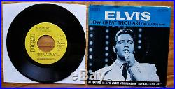 WOW! MINT PROMO Elvis Presley HOW GREAT THOU ART / HIS HAND IN MINE 74-0130