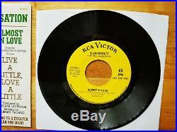 WOW! MINT YELLOW LABEL PROMO Elvis Presley A LITTLE LESS CONVERSATION 47-9610