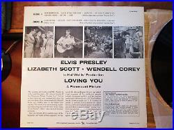 WOW! NEAR MINT 1s / 1s Elvis Presley LOVING YOU LPM-1515 with onion skin