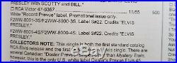WOW! RARE 1955 RCA RECORD PREVUE Elvis Presley MYSTERY TRAIN 47-6357