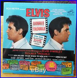WOW! STILL SEALED ORIG. STEREO Elvis Presley DOUBLE TROUBLE with PHOTO LSP-3787
